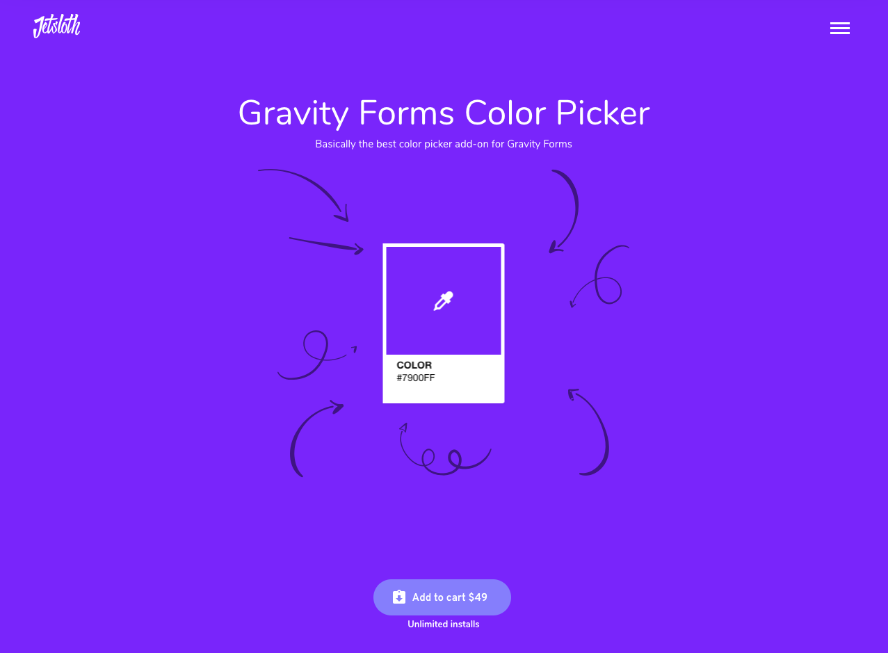 JetSloth's Gravity Forms Color Picker add-on