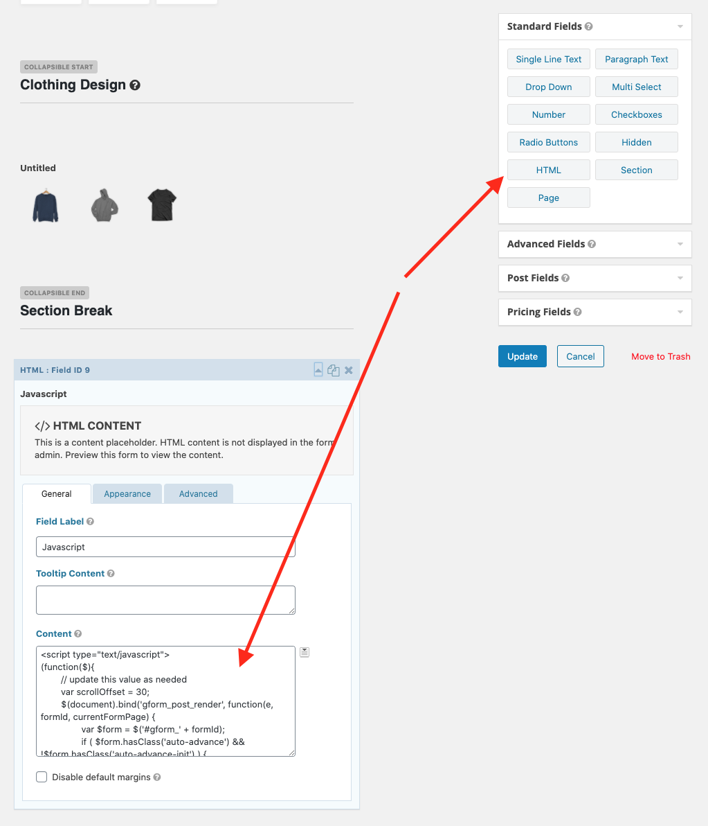 Improve UX with auto-advance in Gravity Forms sections