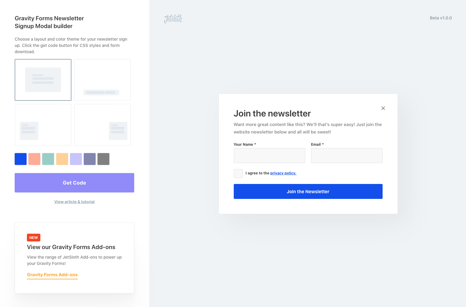 How to create a newsletter sign up modal with Gravity Forms